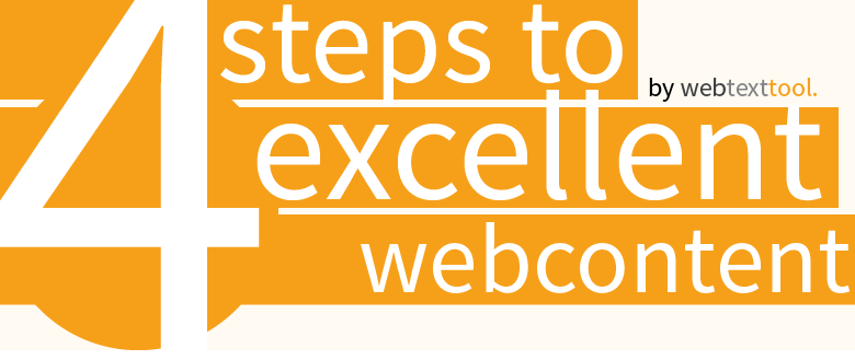 4 Simple Steps To Excellent Webcontent [Infographic]