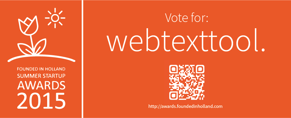 Webtexttool in beeld: Founded In Holland Startup Awards 2015