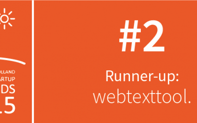 Webtexttool Runner-up #2: Founded In Holland Summer Startup Awards 2015