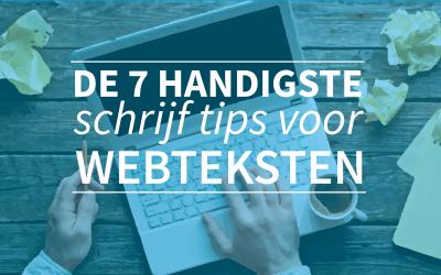 De 7 handigste schrijf tips voor webteksten