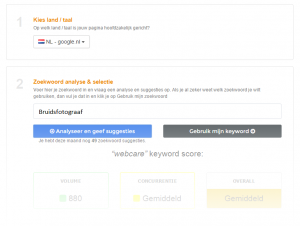 zoekwoord-onderzoek webtexttool