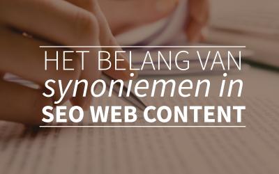 Het belang van synoniemen in SEO content