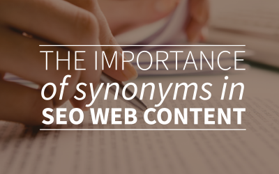 The importance of synonyms in SEO content
