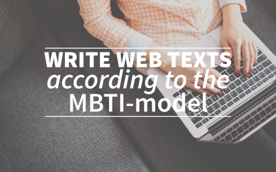 Write web texts according to the MBTI-model