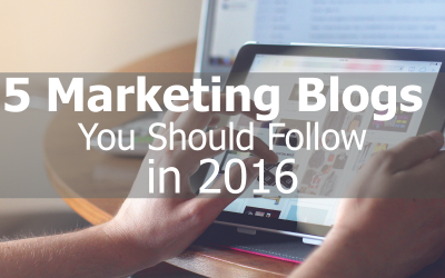5 Marketing Blogs You Should Follow in 2016
