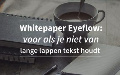SEO White paper Eyeflow: voor als je niet van lange lappen tekst houdt