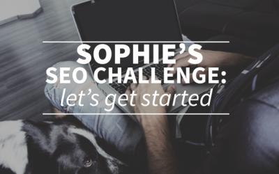 Sophie's SEO Challenge: let's get started