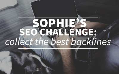 Sophie's SEO challenge: collecting backlinks