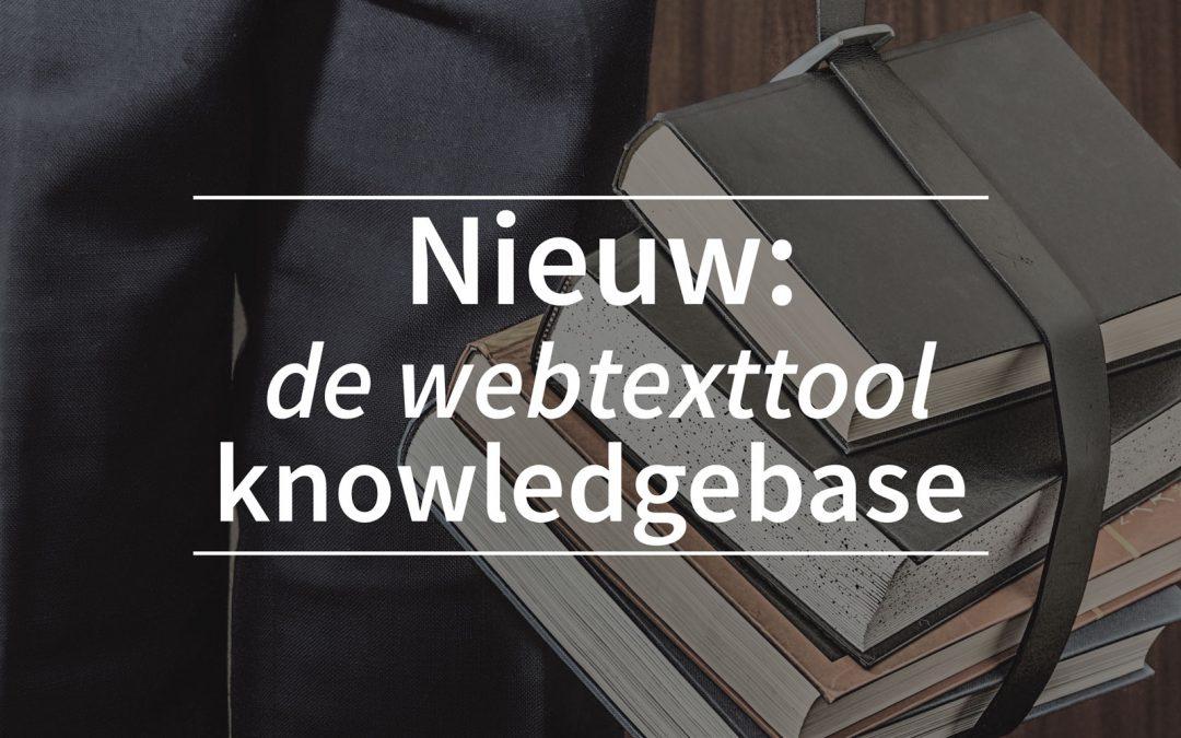 Nieuw: de webtexttool SEO knowledgebase