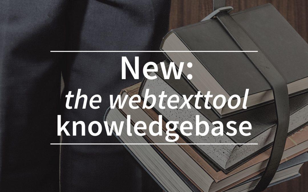 New: the webtexttool SEO knowledgebase
