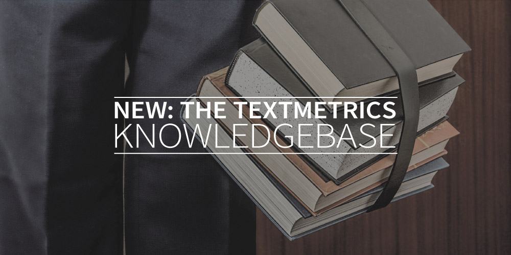 New: the Textmetrics SEO knowledgebase