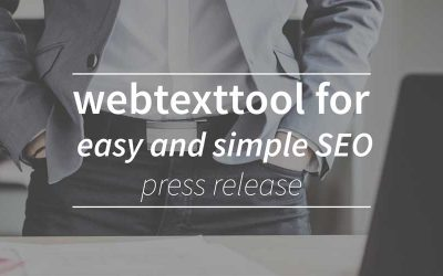 Webtexttool Adresses Entrepeneurs Needs for Easy and Simple SEO