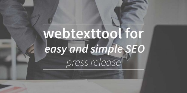 Webtexttool addresses entrepeneurs needs for easy and simple seo