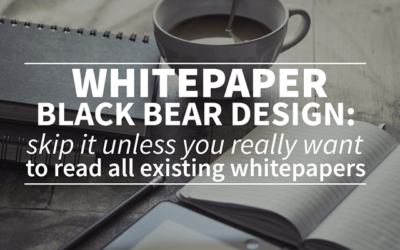 SEO white paper Black Bear Design: skip it unless you really want to read all existing whitepapers.
