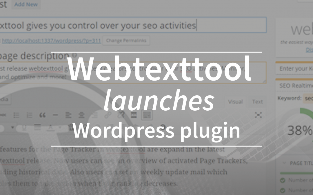 Webtexttool launches WordPress plugin