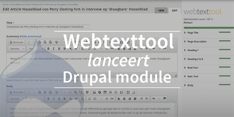 Webtexttool lanceert Drupal module