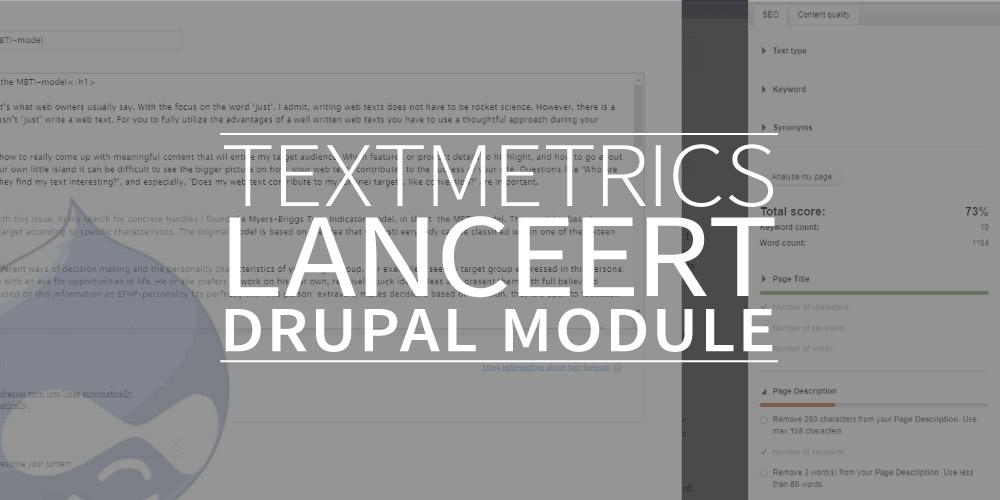 Textmetrics lanceert Drupal module