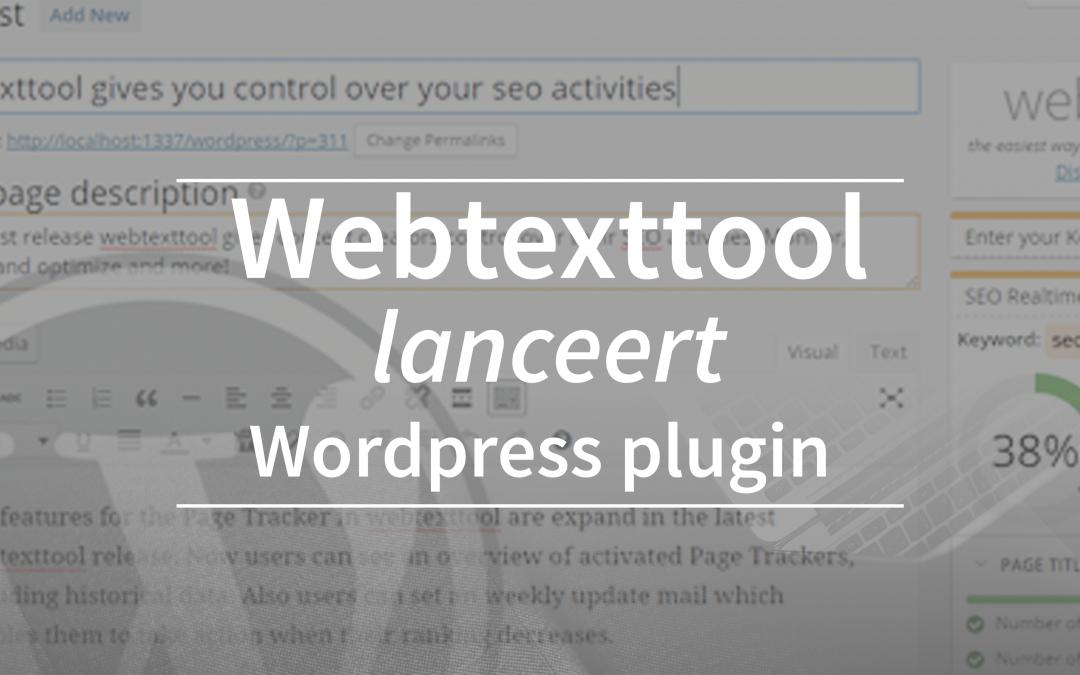 Webtexttool lanceert WordPress plugin