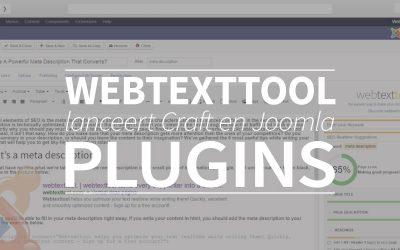 Webtexttool lanceert Craft en Joomla plugins