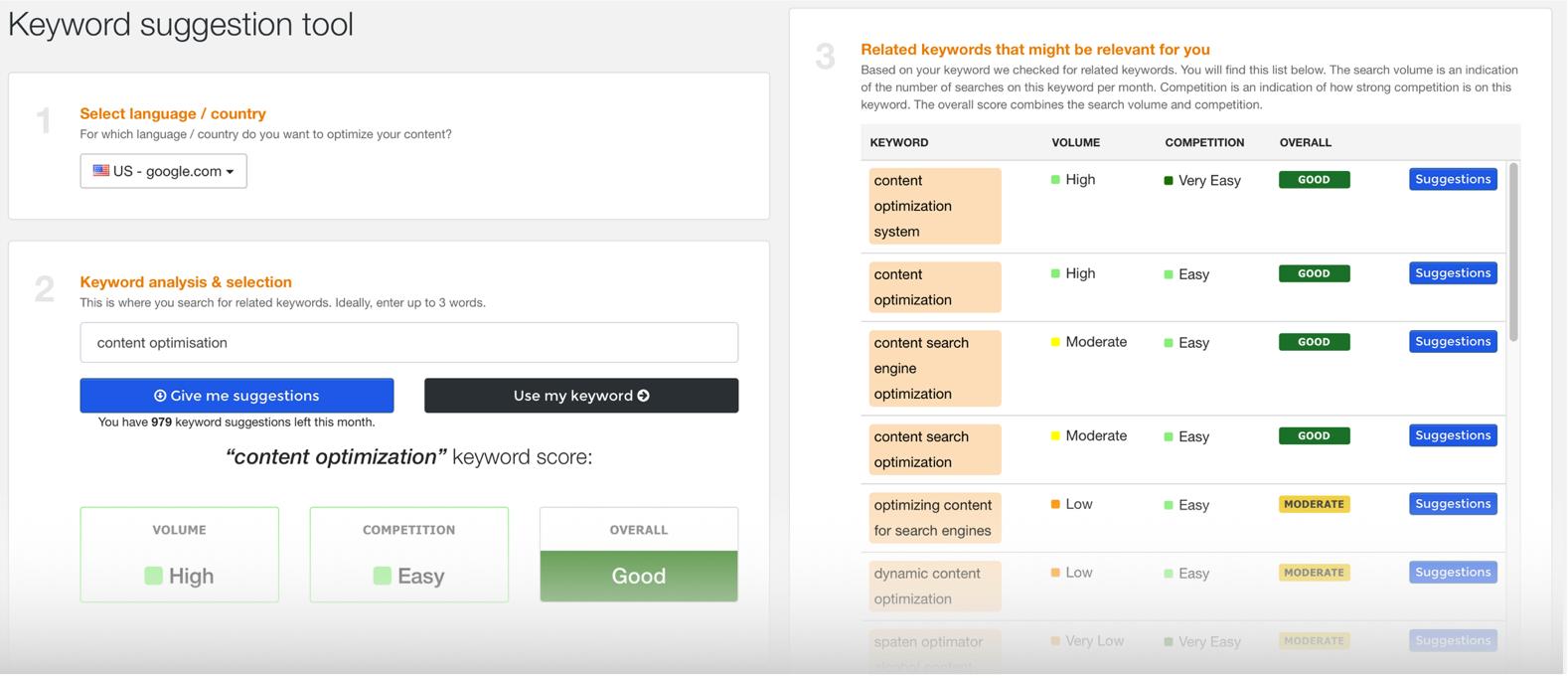 keyword suggestion tool webtexttool