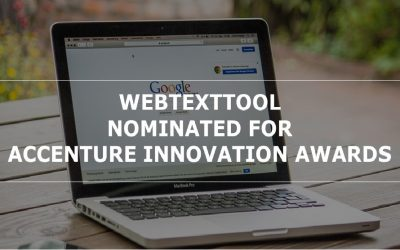 Webtexttool has been nominated for the Accenture Innovation Awards