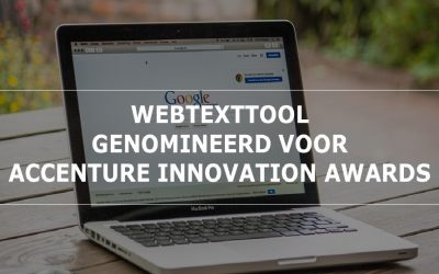 Webtexttool genomineerd voor de Accenture Innovation Awards