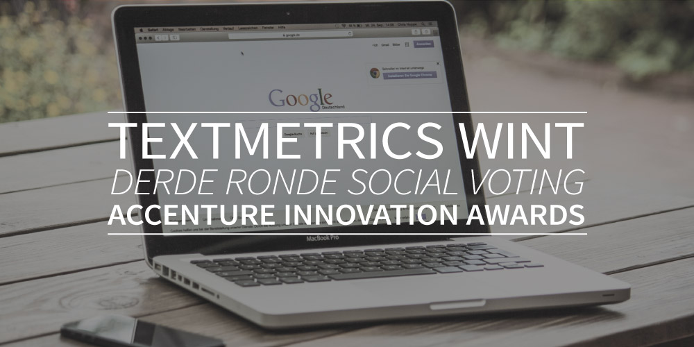 Textmetrics wint 3e ronde social voting Accenture Innovation Awards
