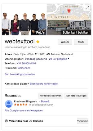 Local SEO webtexttool