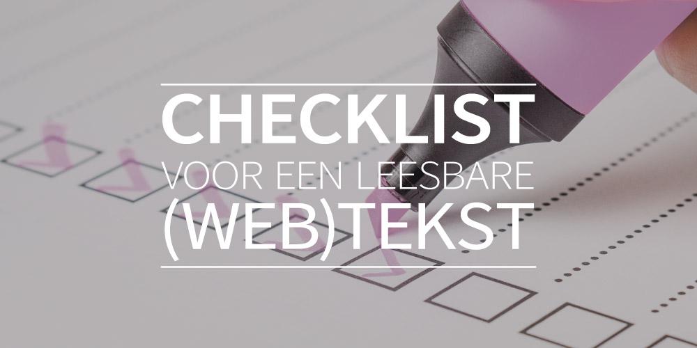Checklist voor een leesbare (web)tekst