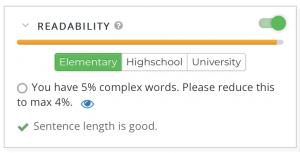 Webtexttool checks readability