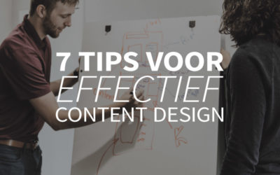 7 tips voor effectief content design