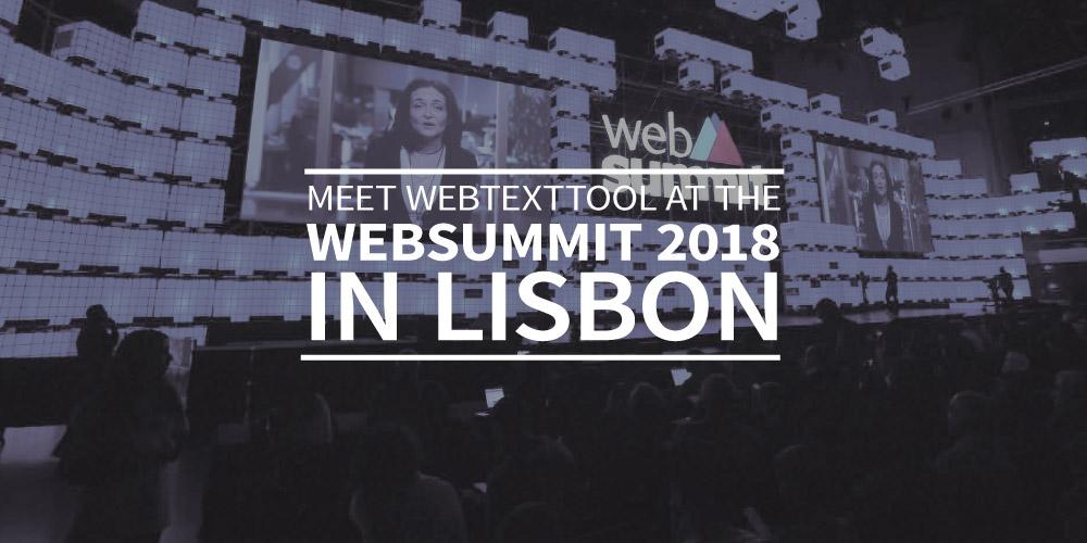 Meet webtexttool at the Websummit 2018 in Lisbon