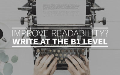 Improve readability? Write at the B1 level
