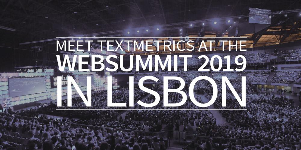 Meet Textmetrics at the Web Summit 2019 in Lisbon