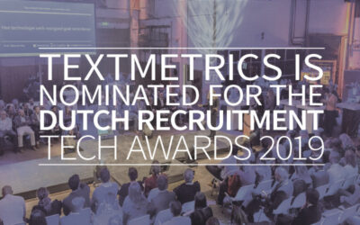 Textmetrics is nominated for the Dutch Recruitment Tech Awards 2019