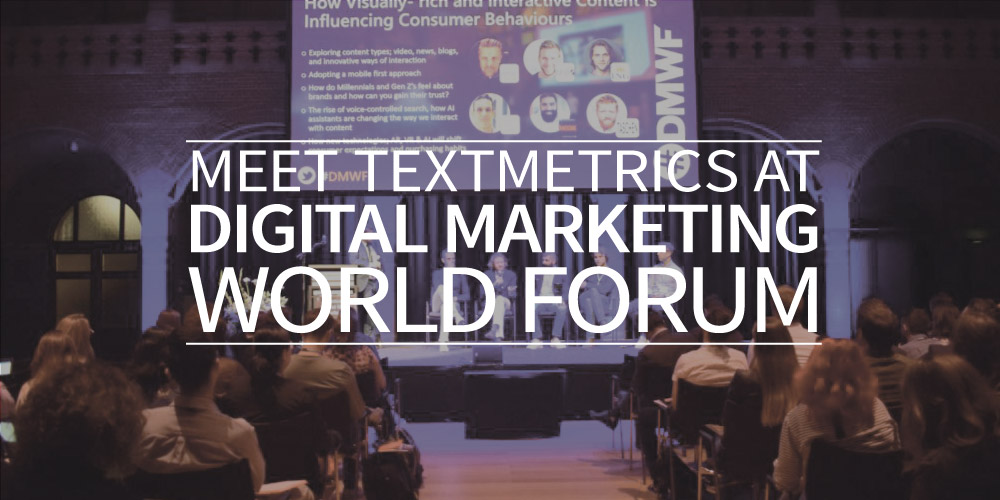 Meet Textmetrics at Digital Marketing World Forum
