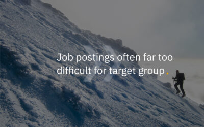 Job postings often far too difficult for target group (EN/NL)