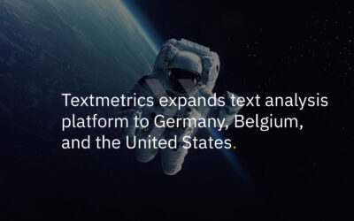 Textmetrics expands text analysis platform to Germany, Belgium, and the United States