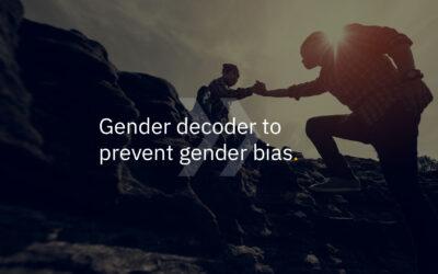 Gender decoder to prevent gender bias